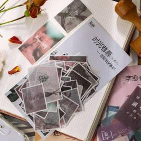 60pcs Ins Style Washi Paper Sticker Set Romantic Floral Diy Sticker Adhesive Label For Scrapbooking Art Craft Album Journal