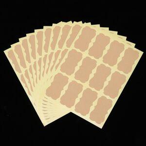 60pcs Packaging Seals Handmade Sticker Blank Vintage Label Kraft Brand DIY Handmade Gift Sticker Cake Baking Sealing Sticker