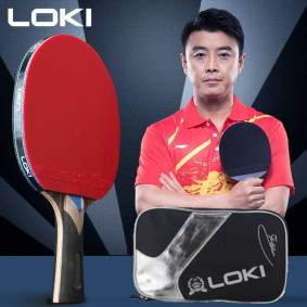Loki 5/6/7 Star Ping Pong Racket Professional Offensive Carbon Blade Table Tennis Racket Bat Paddle with ITTF Approved Rubber