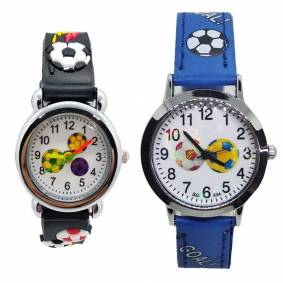 Leather Strap Football Silicone Football Children Kids Watch Boys Girls Baby Christmas Gift Clock Montre Enfant Relogio infantil