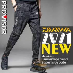 2021 Dawa Fishing Trousers Camouflage Waders Outdoor Pants Hiking Sports Britches Reflective Prevention Climbing Fishing Pants