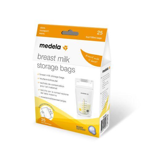 Medela oppbevaringspose til morsmelk 150 ml 25 stk   Brystpumper og utstyr