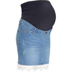 bonprix Mamma-jeansskjørt med blonde og omslag 38,40,42,44,46,48,50,52