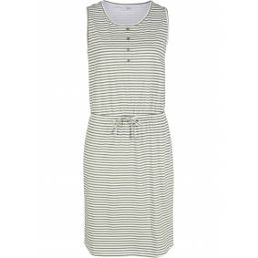 bonprix Jerseykjole med knappelist og knytebånd 52/54