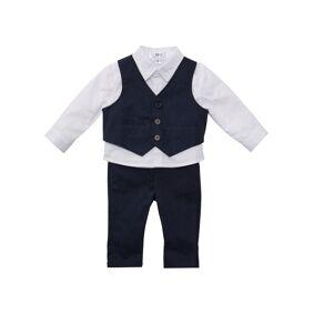 bonprix Babyskjorte + vest + bukse (3-delt sett) 98,104,110