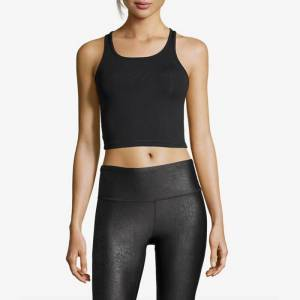 Casall Sportswear Bold Rib Crop Tank, Black 34
