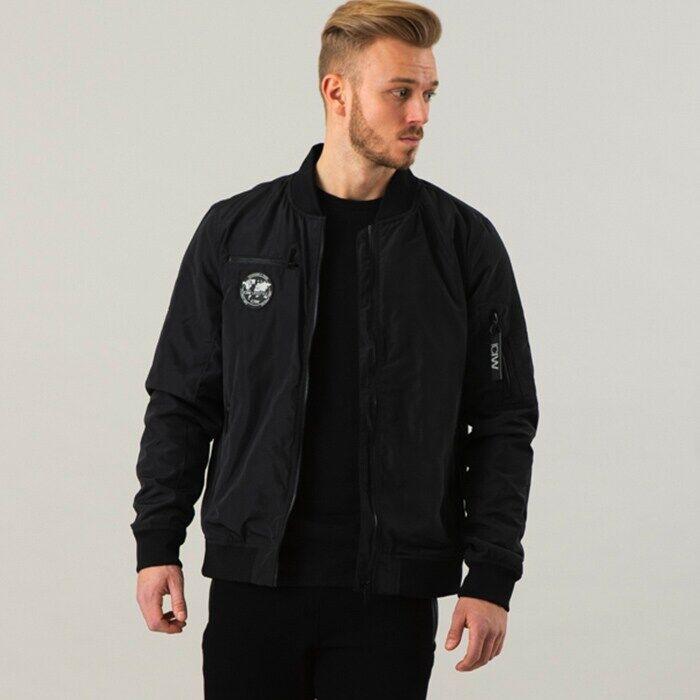 ICIW Men ICIW Bomber Jacket, Black