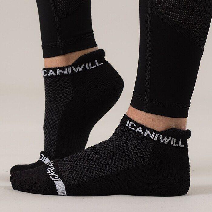 ICIW Men Perform Unisex Socks 3-pack, Black/White
