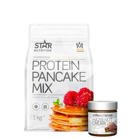Star Nutrition Protein Pancake mix, 1 kg + Protein Hazelnut Cream, 200 g