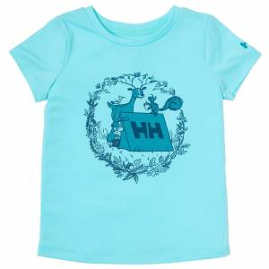 Helly Hansen Barn Alina Quick-dry T-shirt Blå 110/5