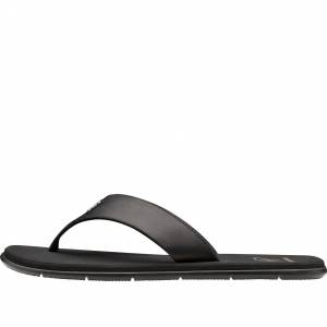 Helly Hansen Herre Seasand Leather Sandal Sko Svart 7.5