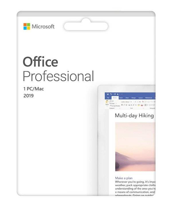 Microsoft Office Professional 2019 -   PC
