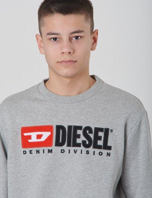 Diesel, SCREWDIVISION OVER SWEAT-SHIRT, Grå, Gensere/Cardigans för Gutt, 14 år 14 år Grå