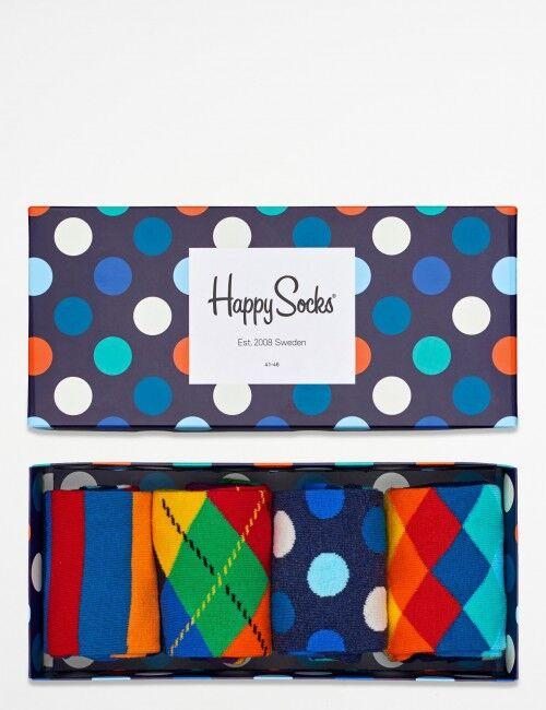 Happy Socks, Mix Gift Box, Blå, Strømper/sokker för Unisex, 36-40 36-40 Blå