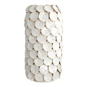 House Doctor Dot Vase 30 cm Hvit keramikk