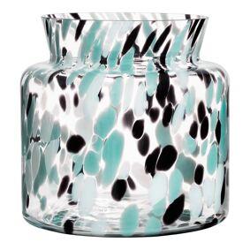 Kosta Boda Gran Vase 20 cm Grønn/svart