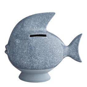Kähler Design Sparebøsse Fisk Gråblå