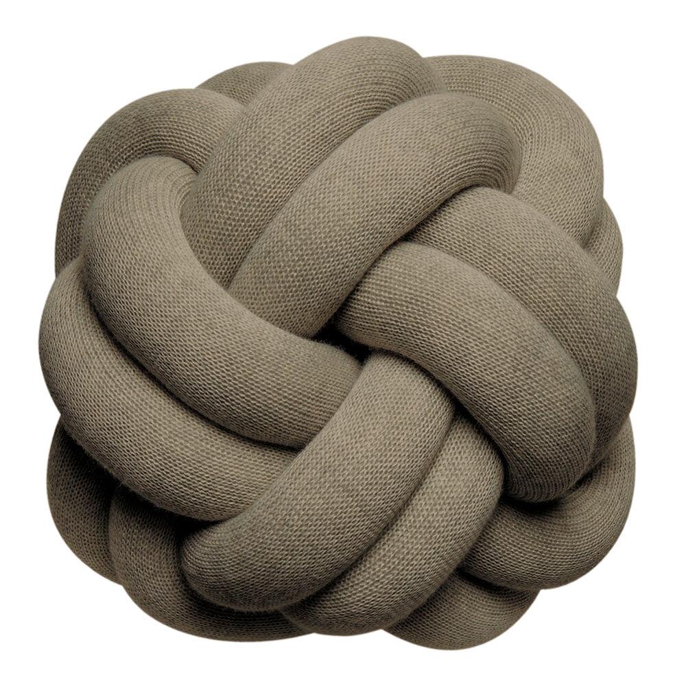 Design House Knot Kudde 30 cm Khaki