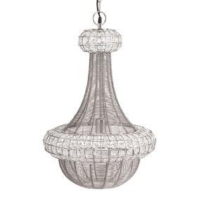 PR Home Saba Takkrone Krystall/Sølv 42x70 cm