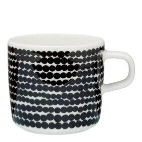 Marimekko Räsymatto Kaffekopp 20 cl Sort prikker