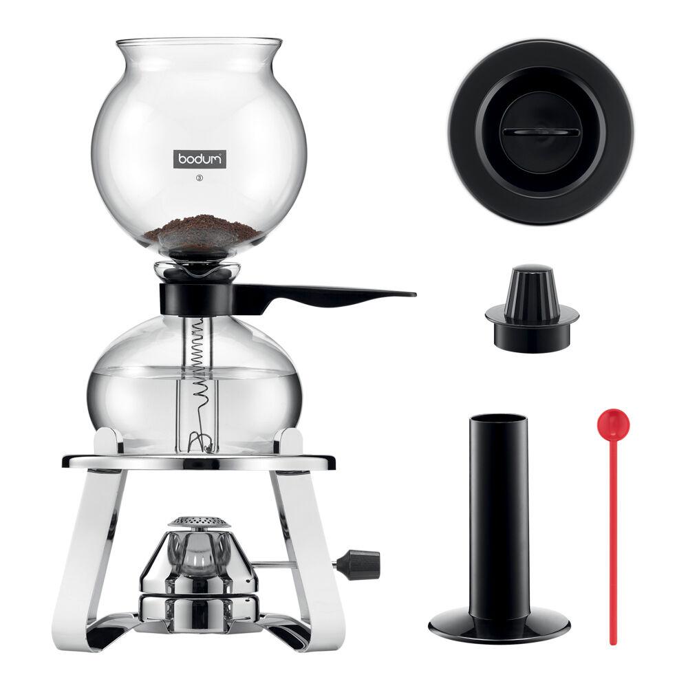 Bodum Pebo Sett Kaffebrygger 8 kopper + Brenner + Tilbehør