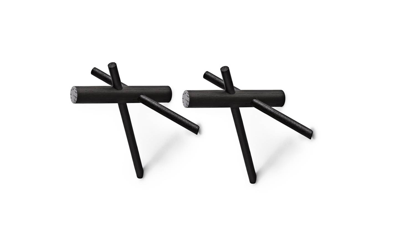 Normann Copenhagen Hooks set of 2 - Black (380500)