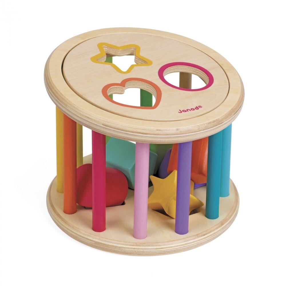 Janod - I Wood Shape Sorter Drum (5336)