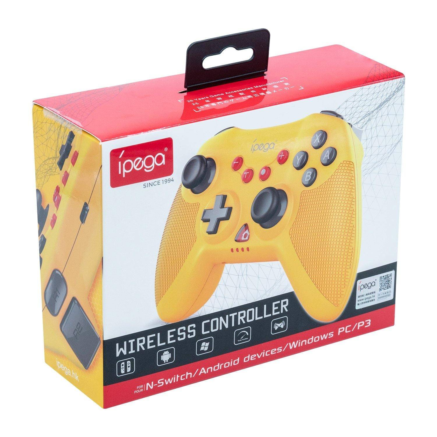 Ipega Trådløs Kontroller For Nintendo Switch/switch Lite/android/ps3/windows Pc - Gul