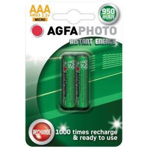 2 stk AgfaPhoto oppladbart batteri - AAA, 1,5V
