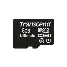 Diverse TRANSCEND SDHC Micro CLASS 10 8 GB Minnekort