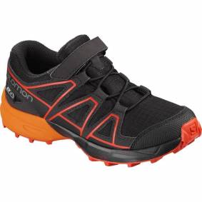 Salomon Speedcross CSWP Kids black/tangelo/cherry tomato 26