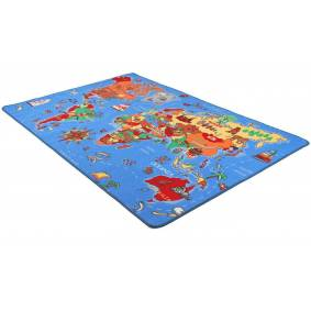 World Map - barneteppe
