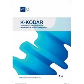 K-kodar, arkivnøkkel for kommunane, hovudnøkkel 2020-2023