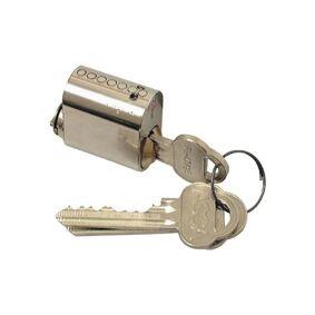 ASSA 701 Låsesylinder med 3 nøkler Mattkrom