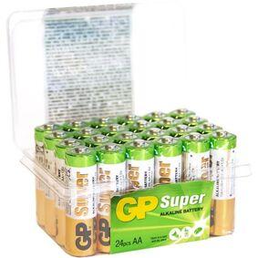 GP Batteries Super Alkaline 15A/LR06 Alkaliske batterier AA, POWERCASE, 24-pakning
