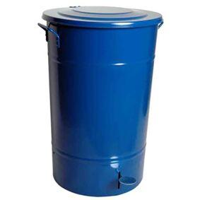 Hykab 11821.3 Avfallsbeholder med tramp, galvanisert, 70 l blå