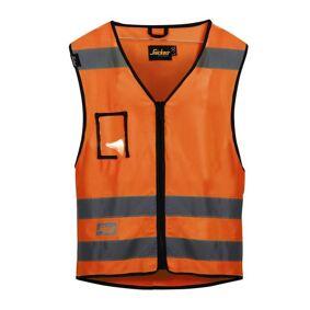 Snickers 9153 Vest varsel, oransje Str. XXL