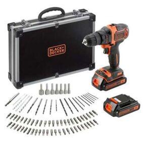 Black & Decker BDCDD186BAC-QW Borskrutrekker med batterier, lader og tilbehør