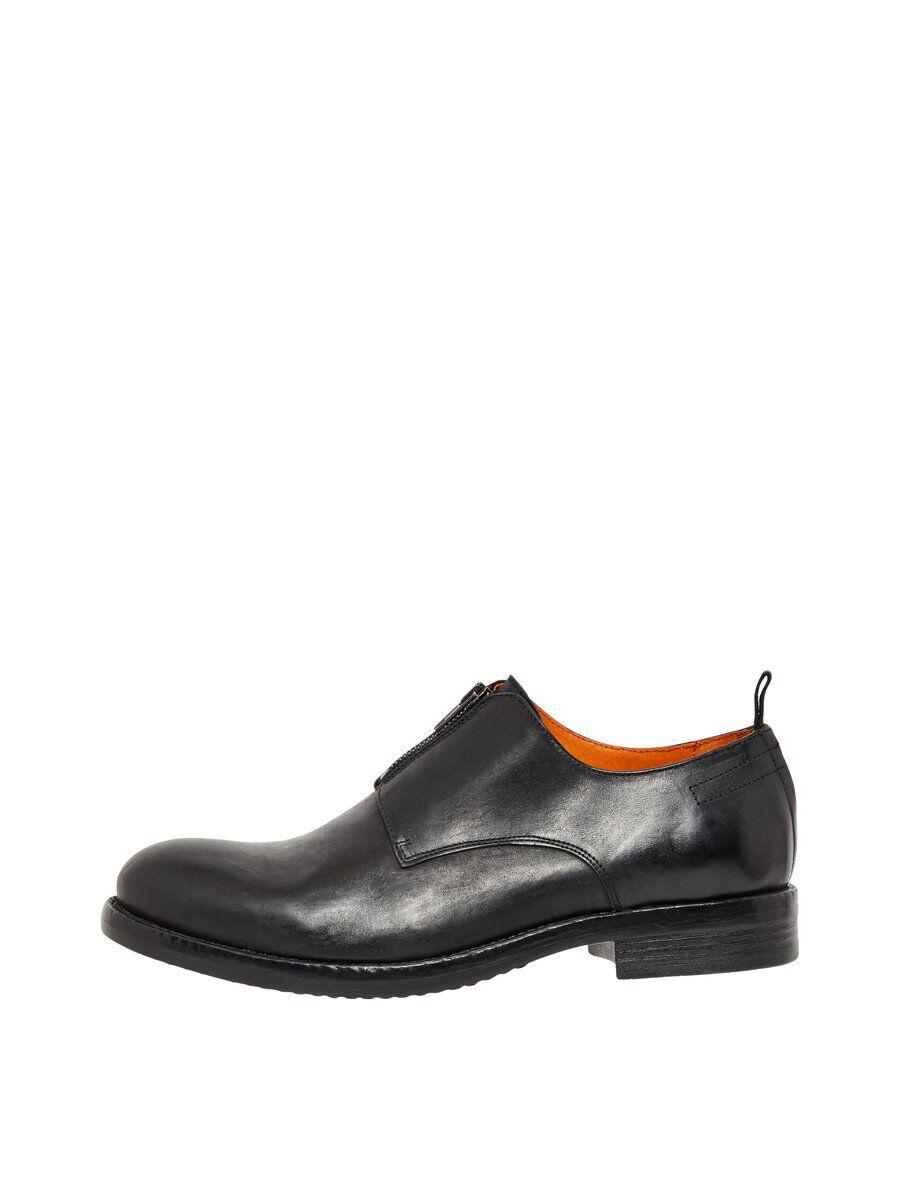 BIANCO Glidelåsdetalj Derby-sko Men Black