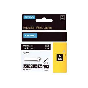 Dymo Tape Rhinopro Perm Vinyl 9mm Hvit/svart