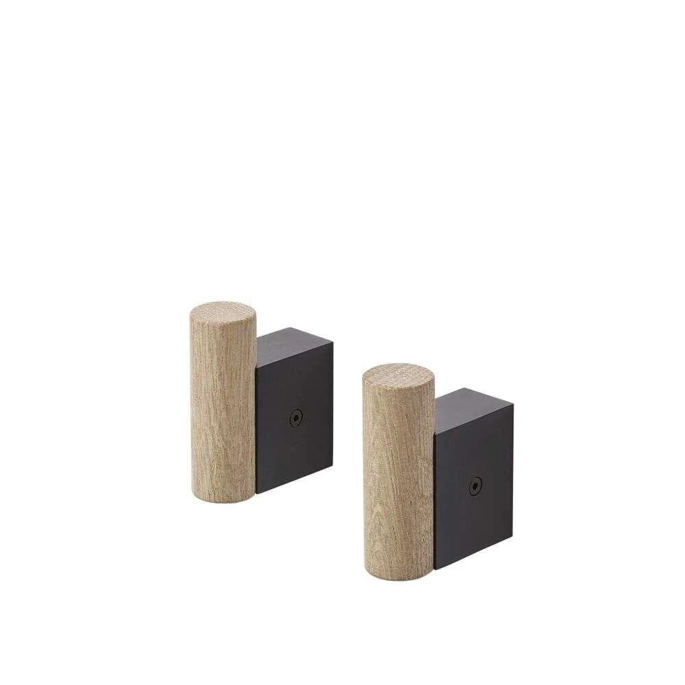 Muuto Attach Coat Hook Oak/Black - Muuto