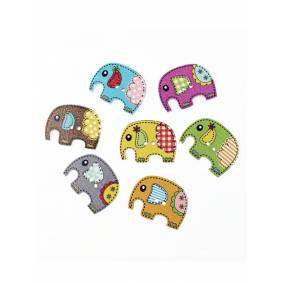 Newchic 50 Pcs 25x19mm Cute Wood Sewing Scrapbooking Elephant Buttons Children DIY Crafts