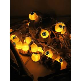 Newchic Specter Skeleton Ghost Eyes Pattern Halloween LED String Light Holiday Funny Party Decoration