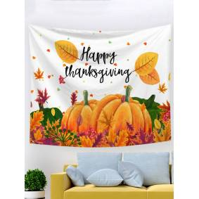 Newchic Thanksgiving Day Happy Halloween Cartoon Pumpkin Printed Tapestries Home Bedroom Living Room Art Decor
