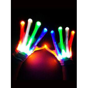 Newchic LED Gloves Costume Amazing Light Halloween Gloves Light Up Rave Gloves Skeleton