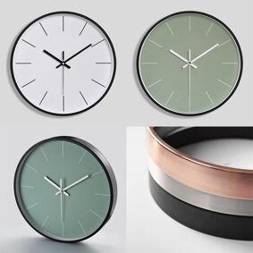 Newchic Creative Metal Wall Clock Simple Digital Quartz Clock Living Room Clock Aluminum Frame Wall Clock Narrow Side 12 Inch 30cm