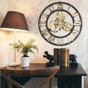 Newchic 50CM Roman Numeral Vintage Wall Clock Living Room Bedroom Clock Artist Wall Clock