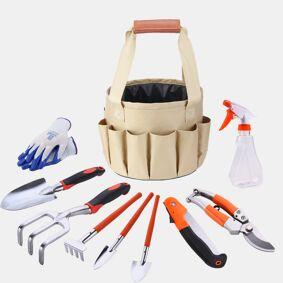 Newchic Garden Gardening Kit Canvas Bag Combination Set Aluminum Shovel Garden Scissors Bucket Cloth Bag
