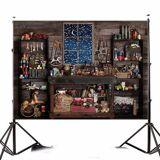 Newchic 7x5FT Wood Christmas Shop Store Custom Photo Studio Background Backdrop Vinyl