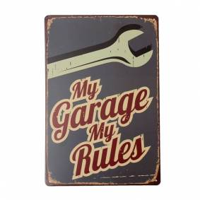 Newchic My Garage Tin Sign Vintage Metal Plaque Poster Bar Pub Home Wall Decor
